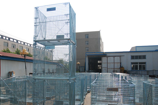 Get galvanized finish collapsible wire mesh containers at great prices