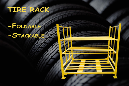 Know All about Different Types of Tire Pallet Racks & Metal Tire Racks